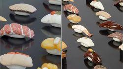 石で作った寿司が「リアルすぎる」と話題。実は「食品ロス」への思いが込められていた【画像集】