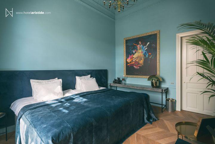 Ενα από τα δωμάτια του ξενοδοχείου Aristide.