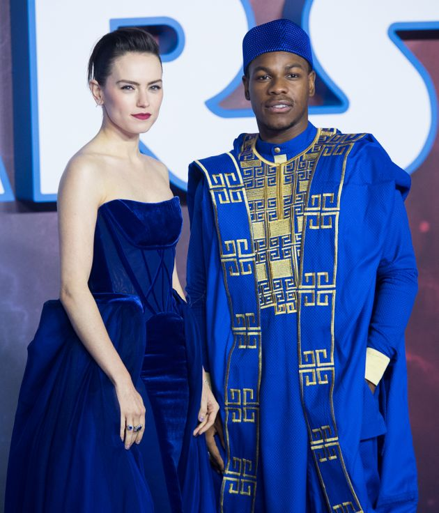 Daisy Ridley and John Boyega at the Star Wars: The Rise Of Skywalker premiere in