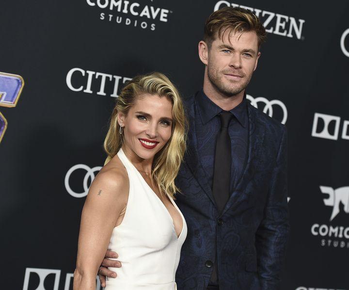 Chris Hemsworth y Elsa Pataky en 2019.