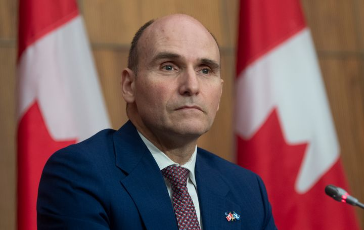 Treasury Board President Jean-Yves Duclos responds to a question during a news conference in Ottawa on Oct. 23, 2020. Duclos' duties will be taken over byJoyce Murray, the minister of digital government, during his time off.