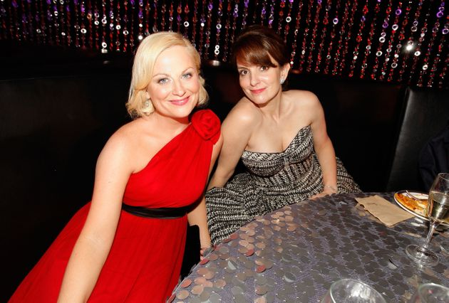 Amy Poehler and Tina Fey at the Golden
