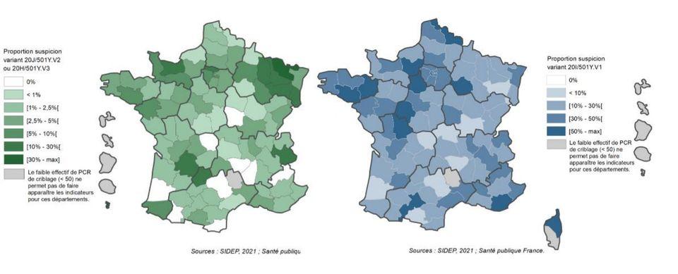 La part des variants dans l'épidémie de Covid-19 en France par