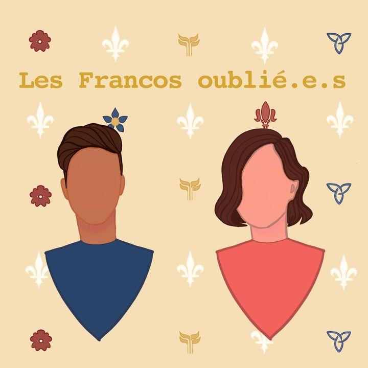 Affiche du balado, les Francos oublié.e.s, créée par Alexie Johnson.