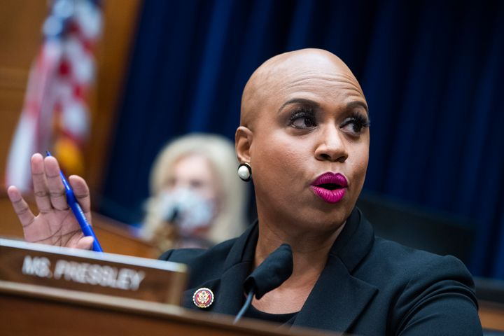 Rep. Ayanna Pressley (D-Mass.) and DeLauro wrote a letter to the White House urging inclusion of paid family leave in the nex