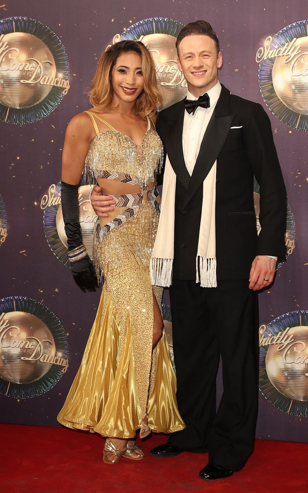 Karen and Kevin at the Strictly launch in