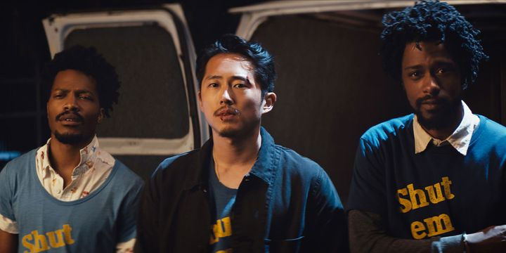 """Jermaine Fowler, Steven Yeun and Lakeith Stanfield in """"Sorry to Bother You."""""""