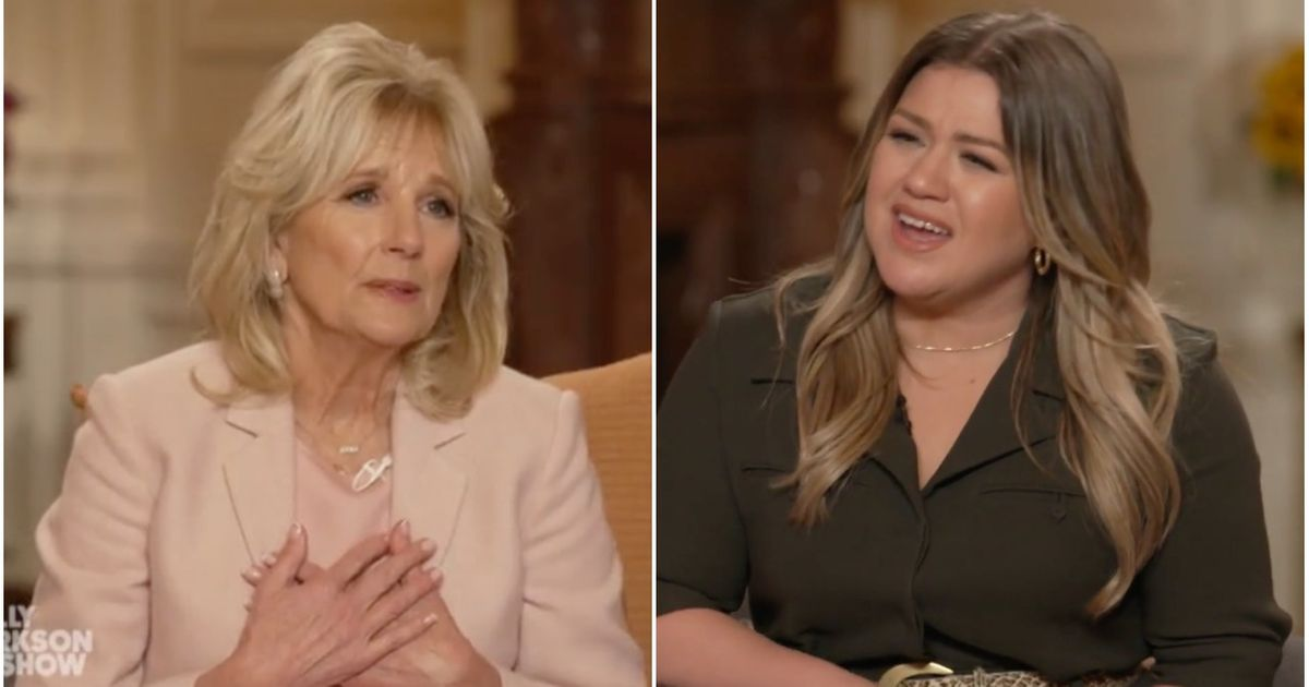 Jill Biden Offers Kelly Clarkson Advice About Getting Through Divorce - HuffPost