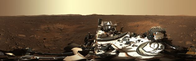 Cette photo de Mars en haute qualité par Perseverance est