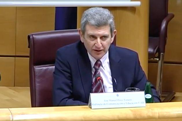 José Manuel Pérez Tornero, III Conferencia Internacional EAVI, celebrada en el Senado en