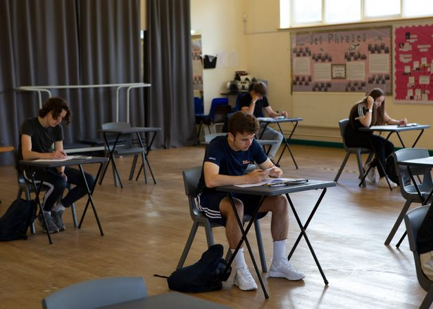 A group of Year 12 pupils at Ortu Gable Hall School in Corringham, Essex, last