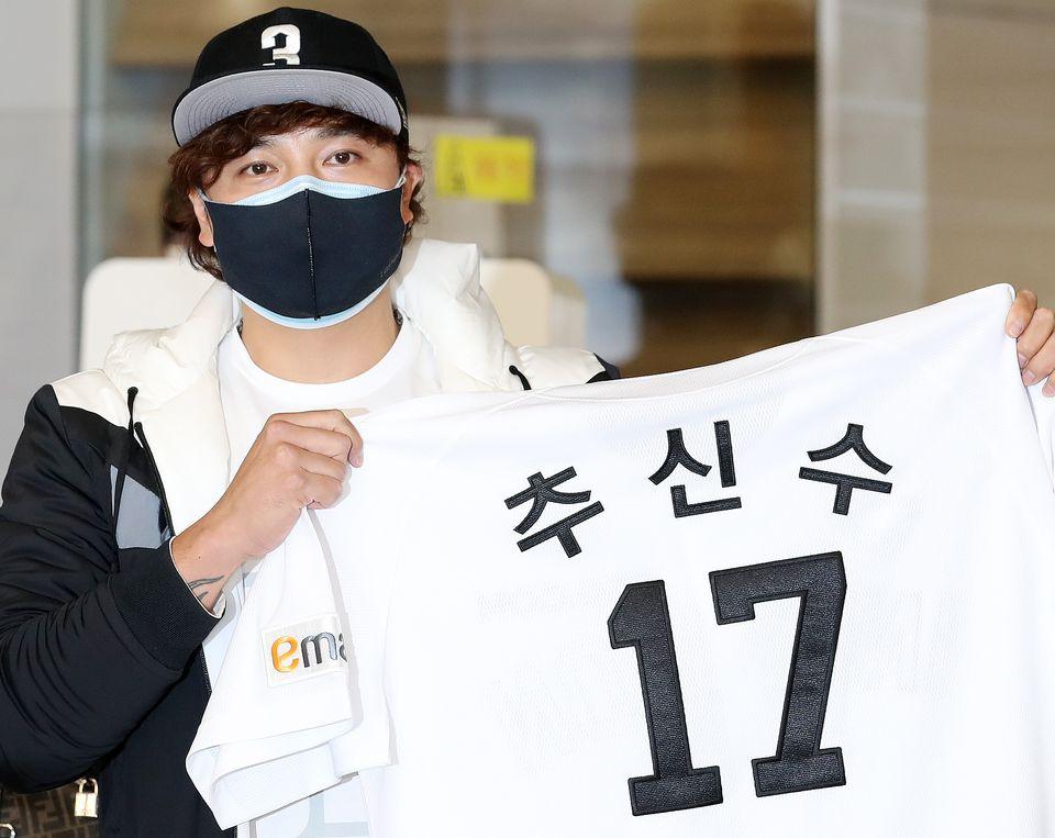그의 등번호는 한국에서도