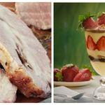 Κυριακάτικο τραπέζι: Ψητός χοιρινός λαιμός με μυρωδικά και ένας γλυκός πειρασμός σε
