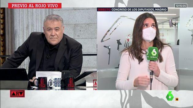 Ferreras y María Llapart en Al Rojo