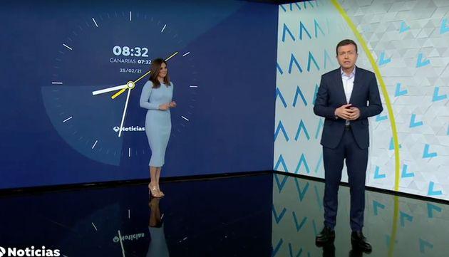Mercedes Martín y Manu Sánchez, en 'Antena 3