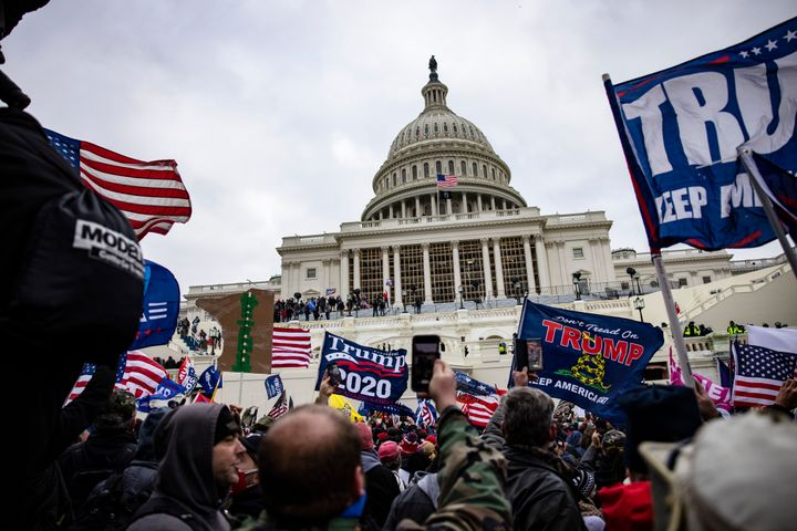 Supporters of Donald Trump storm the U.S. Capitol on Jan. 6 in an attempt to stop the certification of Joe Biden's win in the