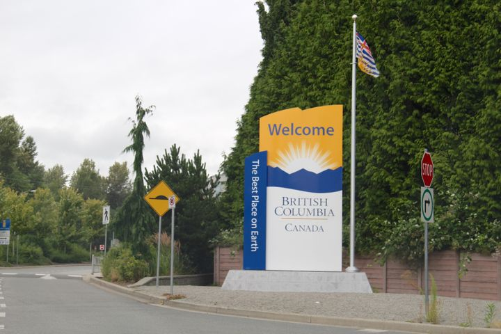 A welcome sign in Surrey, B.C. pictured on July 19, 2014.