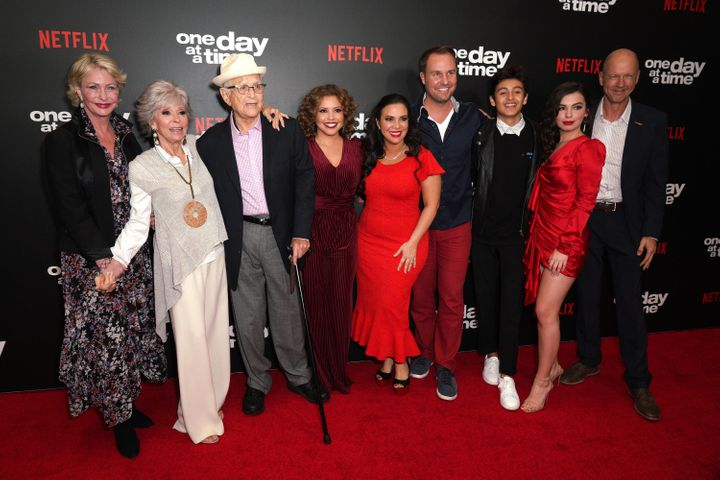 """The cast and creators of Netflix's """"One Day at a Time,"""" one of a handful of major series with a Latinx cast"""