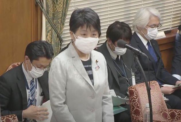 答弁した上川陽子法務大臣