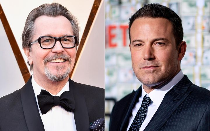 Gary Oldman, left, and Ben Affleck joined a Hollywood Reporter roundtable on COVID-19 and the movie business.