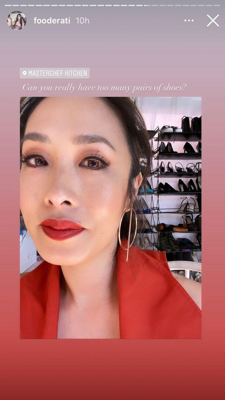 'MasterChef Australia' judge Melissa Leong shares a glimpse into her shoe wardrobe on set.