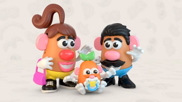 A screenshot from a Hasbro promotional video for the company's Potato Head rebrand.