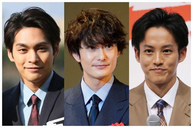 (左から)連続ドラマ『ゆとりですがなにか』(2016年、日テレ系)の出演者、柳楽優弥さん、岡田将生さん、松坂桃李さん