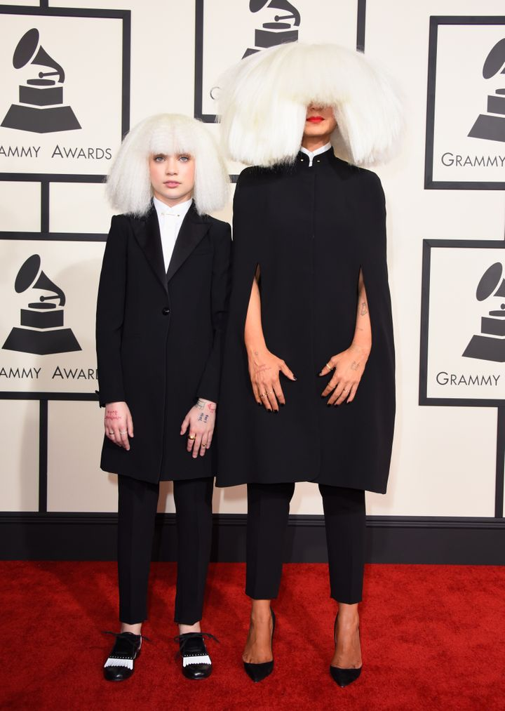 Sia and longtime collaborator Maddie Ziegler.