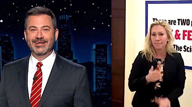Jimmy Kimmel Blasts Marjorie Taylor Greene: 'Frontrunner For Worst Human Of '21'.jpg