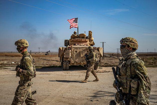 Dans la province de Hassaké, en Syrie, l'armée américaine le 13 février