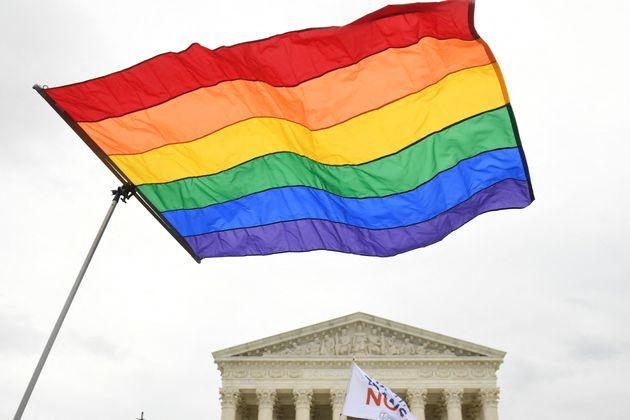 Des militants pour les droits LGBT aux États-Unis, le 8 octobre 2019 (Photo