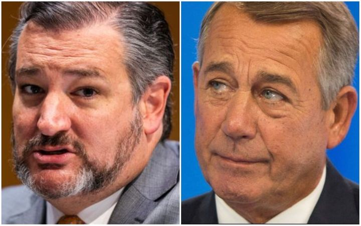 Ted Cruz and John Boehner: No love lost here.
