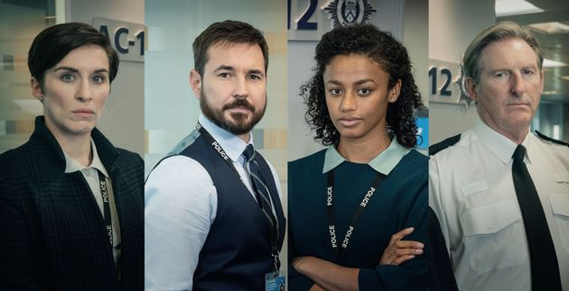 Line Of Duty'sDI Kate Flemming,DS Steve Arnott, DC Chloe Bishop and Superintendent Ted