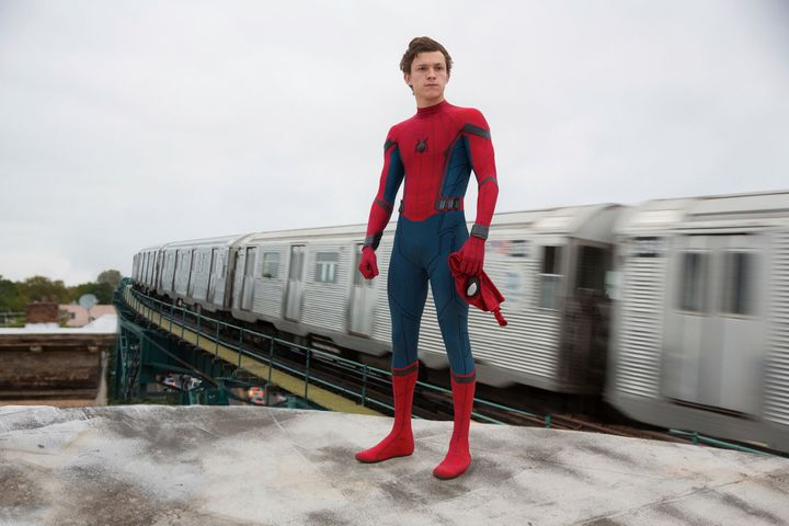 "Holland in ""Spider-Man: Homecoming."""