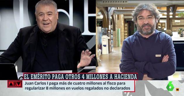 Antonio García Ferreras y Jordi Évole en 'Al Rojo Vivo'