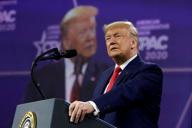Donald Trump lors du CPAC de février 2020 à