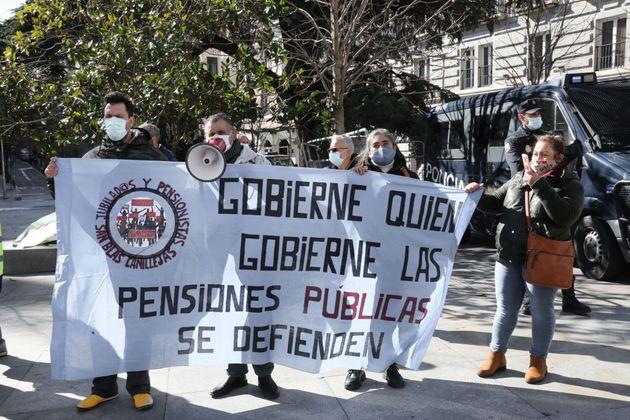 Una protesta de pensionistas en