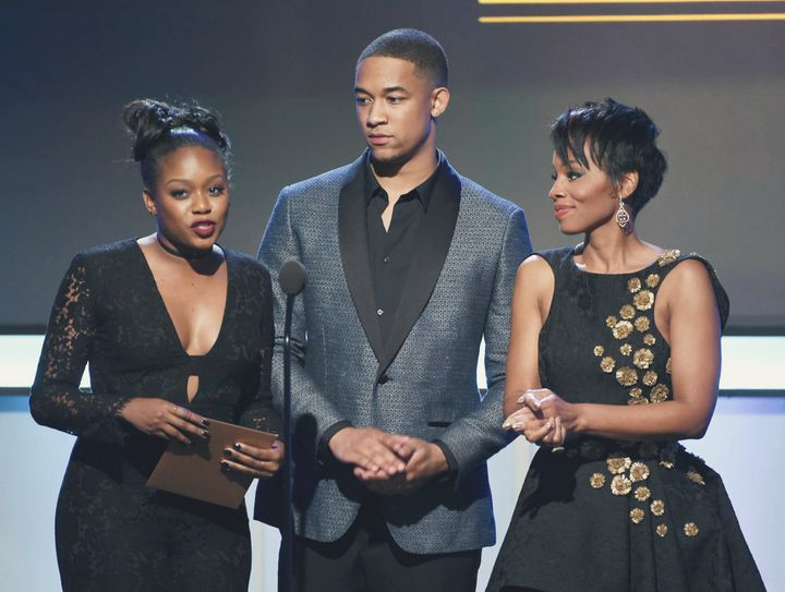 Actors Jazz Raycole, Peyton Alex Smith and Anika Noni Rose at the BET Presents the American Black Film Festival Honors on Feb. 17, 2017. (Kevin Winter/Getty Images)