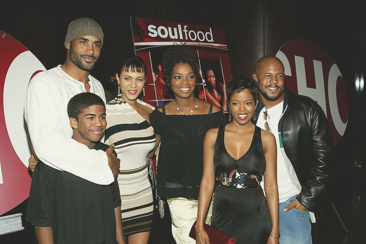 """The cast of """"Soul Food"""" attends the premiere screening at the Directors Guild of America in Los Angeles on Feb. 11, 2004. (Frederick M. Brown/Getty Images)"""