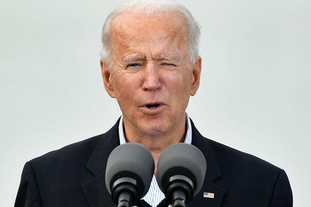 Joe Biden s'exprimait au Texas le 26 février 2021 sur la vaccination contre le