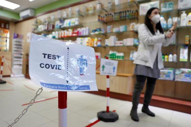 Una farmacia en Madrid donde se realizan las pruebas de