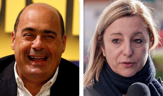 Nicola Zingaretti e Roberta