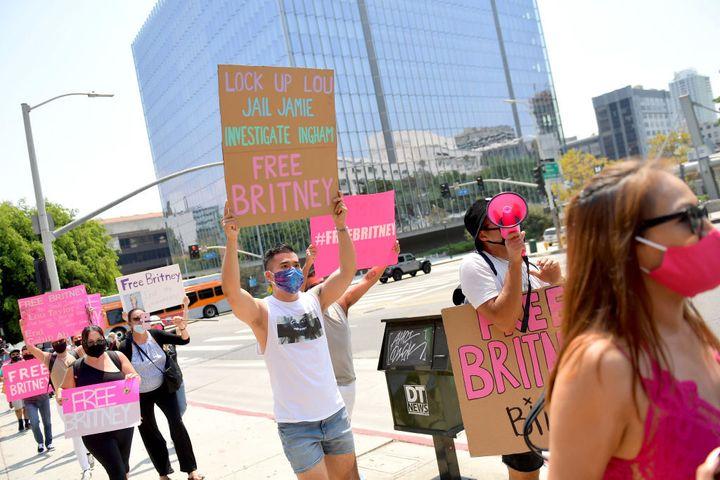 Una manifestación del movimiento #FreeBritney en Los Ángeles (California).