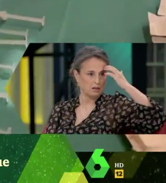 Reacción de María José García Alumbreros a las palabras de Victoria