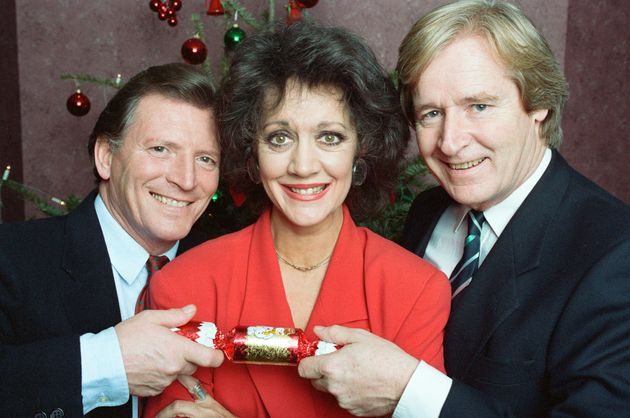 Johnny with former Coronation Street co-stars Amanda Barrie and Bill