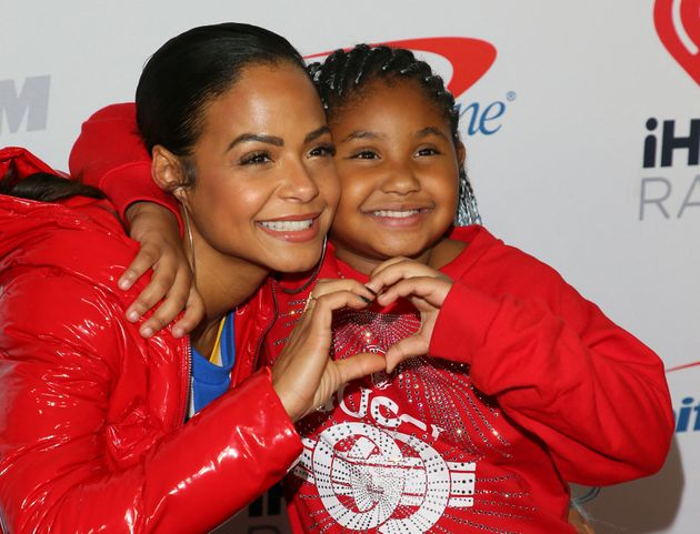 L'actrice américaine Christina Milian et sa fille Violet Madison au Jingle Bell Ball à...