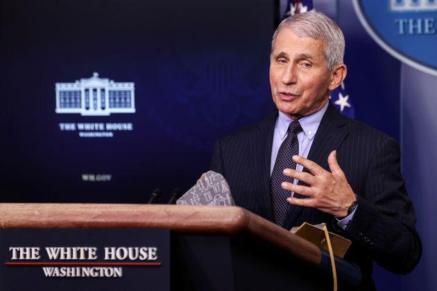 Le docteur Anthony Fauci, ici photographié en janvier à l'occasion d'une conférence de presse à la Maison...