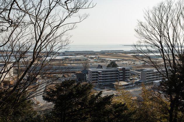 日和山からみた石巻の街。2021年2月撮影