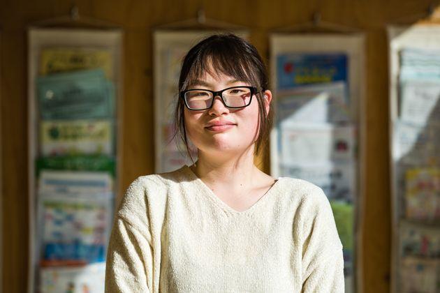 近藤日和さん。石巻子どもセンター「らいつ」では、「どんちゃん」と呼ばれている。