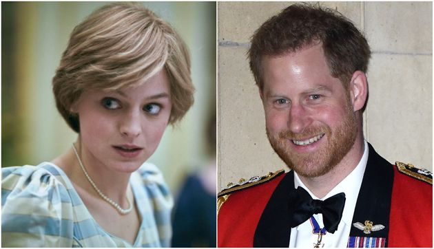 Emma Corrin as Princess Diana in The Crown and Prince